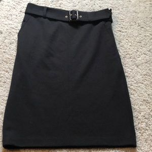 Banana Republic black knit pencil skirt 4